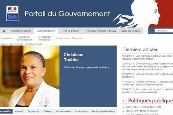 patrimoine Taubira site internet gouvernement