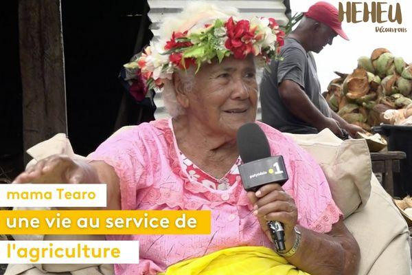 Mama Tearo, une vie au service de l'agriculture et de la transmission