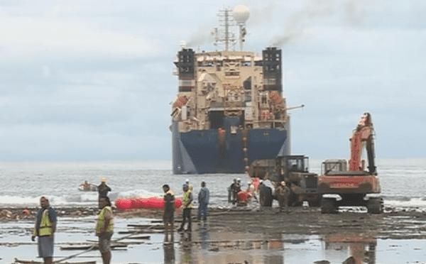 pose du câble Tuisamoa à Futuna