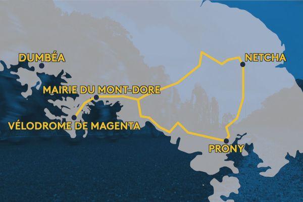 étapes Tour Air france 2019 : mairie du mont-dore netcha prony vélodrome de magenta