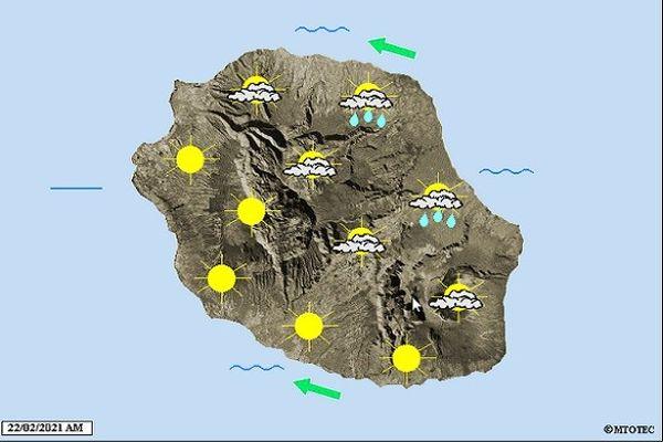 Carte météo 22 février 2021
