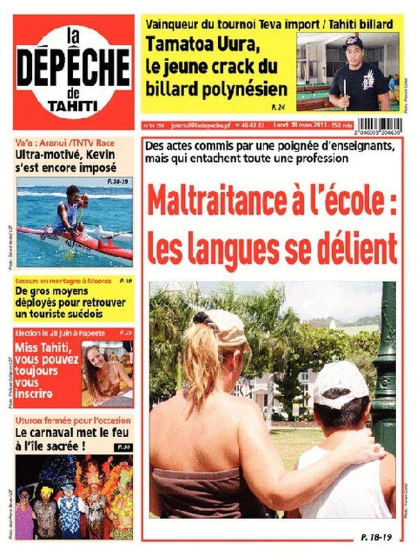 Une depeche de Tahiti 18 mars