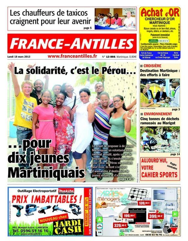 Une France Antilles Martinique 18 mars