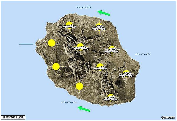 Carte météo 11 mars 2021