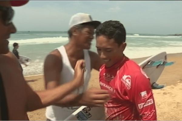 Mondiaux de surf à Biarritz : Ariihoe Tefaana