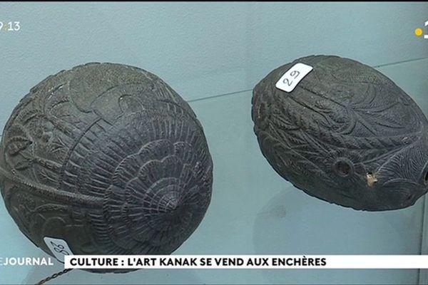 Une soixantaine d'objets d'art canaque vendus aux enchères en Normandie