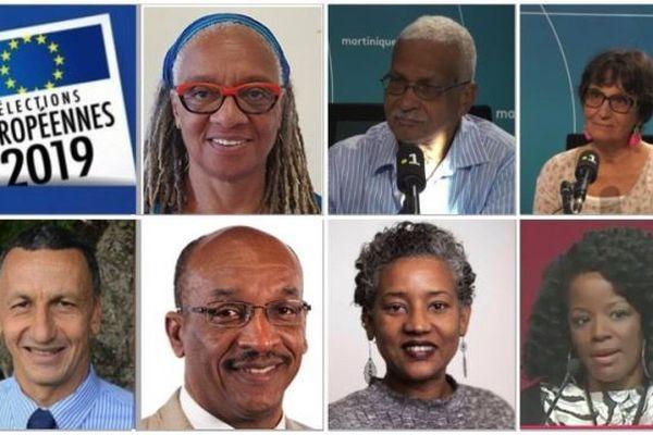 Candidats Martiniquais aux européennes