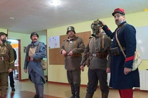 Des membres de l'association des francs-tireurs lorrains en visite sur le territoire à l'occasion des commémorations de l'armistice