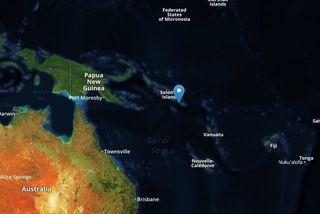 Carte tsunami Salomon