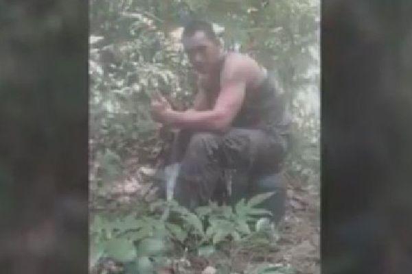 Emile Avae en opération en Guyane