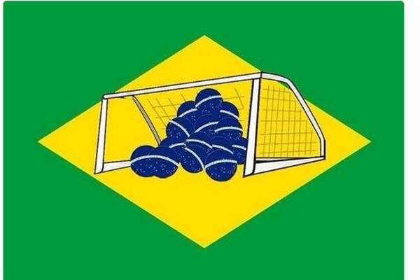 Drapeau Brésil revisité