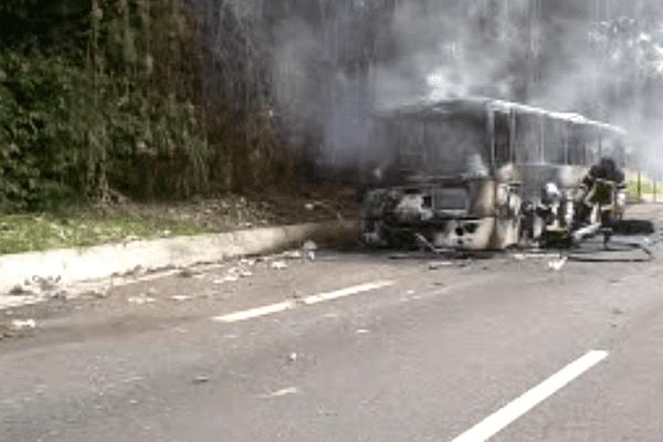 Bus en feu mardi gras