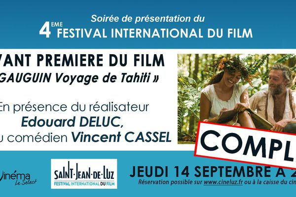 """Le film """"Gauguin"""" en avant première à Saint-Jean-de-Luz"""
