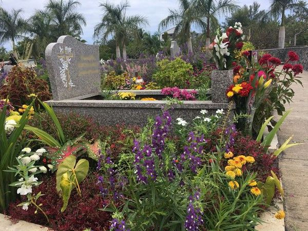 Toussaint tombe fleurie dans cimetière 011119
