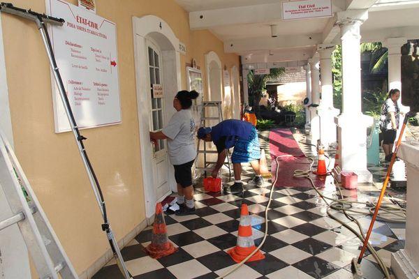 Nettoyage mairie papeete