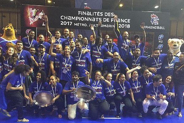 Handball les finalités 2018 HBF Saint-Denis et la Cressonnière champions