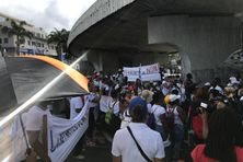 Manifestation des syndicats de l'Education nationale