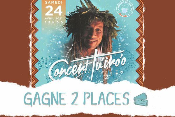 Gagne 2 places pour le concert Tu'iro'o en hommage à Bobby