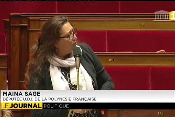 Maïna Sage réagit à la suppréssion de la réserve parlementaire