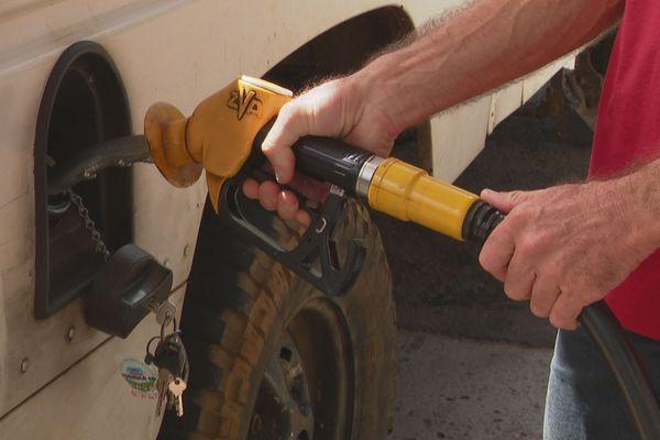 pénurie essence cote est illustration