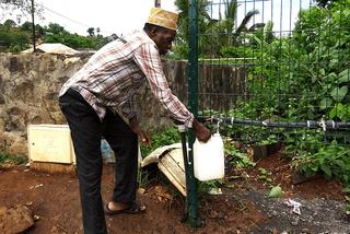 Pénurie d'eau à Mayotte début 2017.