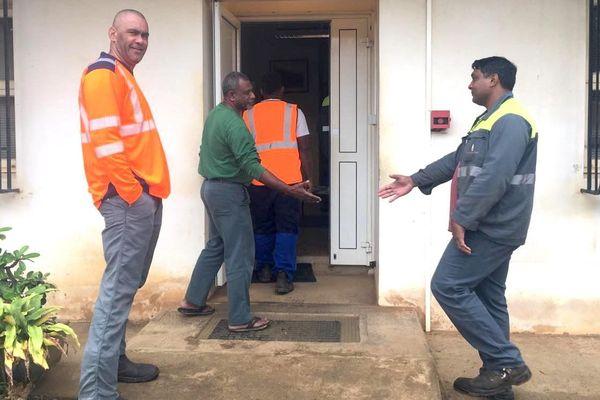 Comité d'établissement du centre minier SLN à Kouaoua, 20 août 2018