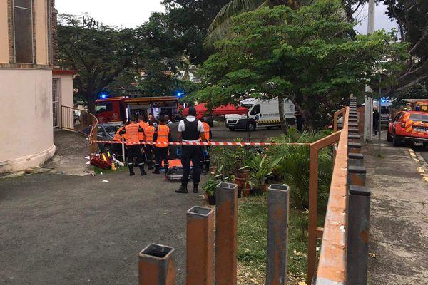 Accident mortel su rle parking de l'église Saint-jean-Baptiste, 4 juillet 2021