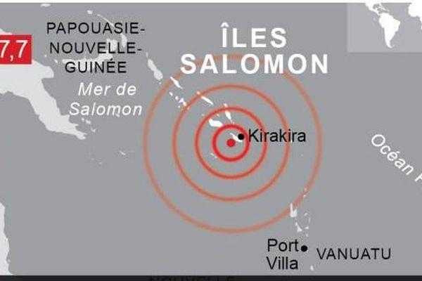 Iles salomon: séisme