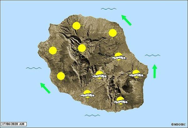 Carte météo 17 juin 2020