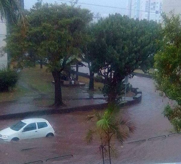 Rues totalement inondées