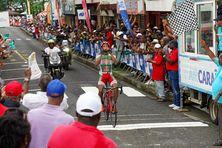 Cédric Eustache, vainqueur du premier tronçon de la 8e étape du tour cycliste 2019 de Martinique (13 juillet 2019).