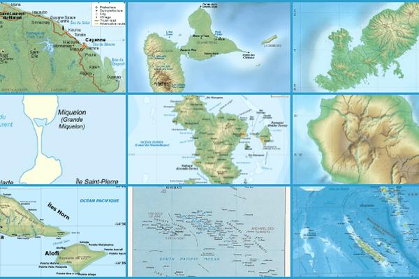 Les 9 départements et collectivités d'Outre-mer