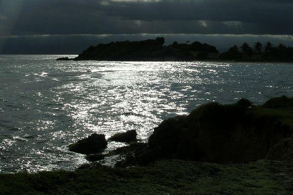 la plage de Petit-Havre au Gosier