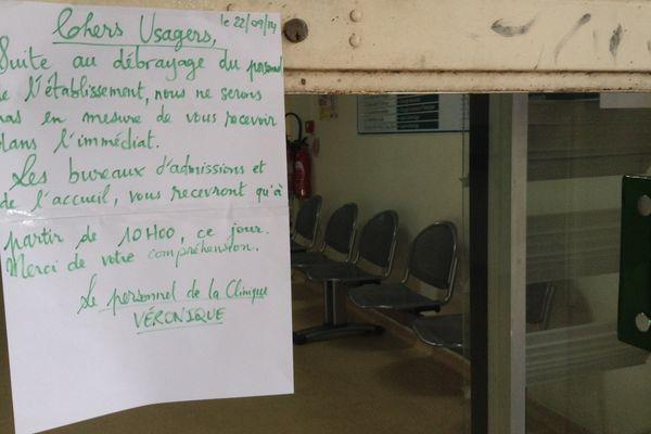 débrayage clinique Véronique