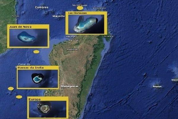Les quatre îles éparses revendiquées par Madagascar