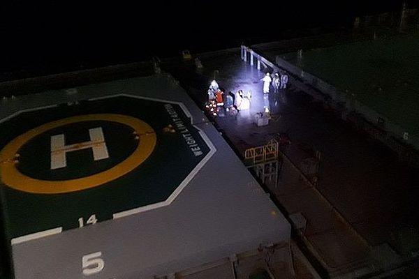 Évacuation du marin le 2 janvier 2019