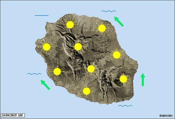 carte météo 24 avril 2019