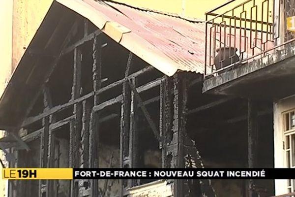 Incendie à Fort de France
