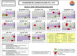 Calendrier Avec Semaine Paire Et Impaire.Decouvrez Le Calendrier Scolaire 2018 2019 Polynesie La 1ere