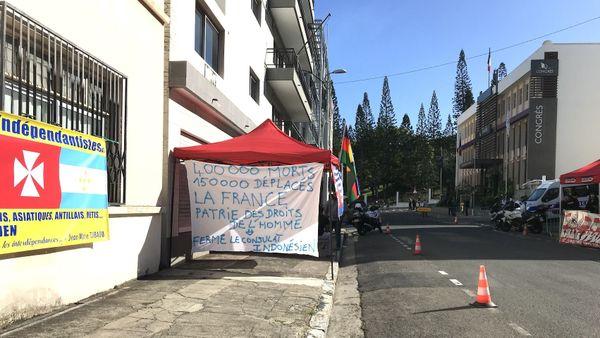 Mobilisation devant le Congrès, Mouvement des Océaniens indépendantistes, 22 août 2019