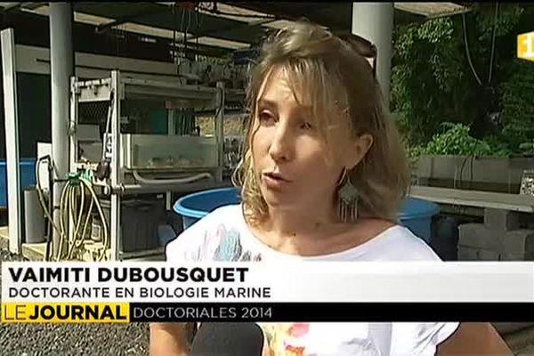 Vaimiti Dubousquet, lauréate des Doctoriales 2013