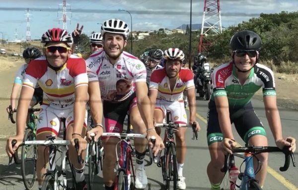 Mathieu Riebel sur le tour de Calédonie avant son accident mortel bis (20 octobre 2017)