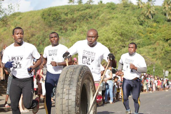 La course de pneus aux jeux olympiques
