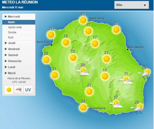 Carte météo du 11 Mai 2016