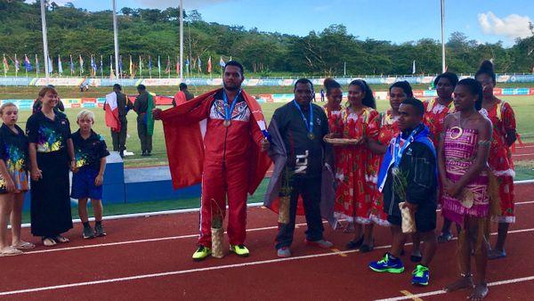 Falemanu Aveuki médaillé de bronze javelot handisport Vanuatu 2017