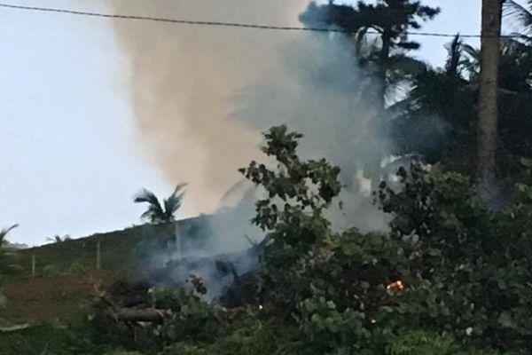 Incendie Huahine