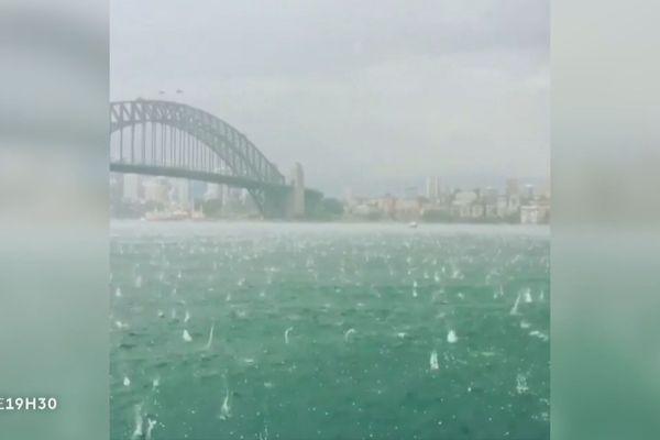 Australie : une violente tempête de grêle tombe sur Sydney