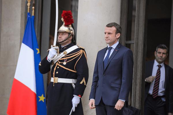 Le chef de l'Etat, Emmanuel Macron, à l'Elysée.
