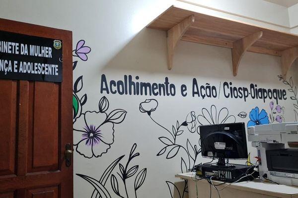Bureau d'accueil pour femmes, enfants et adolescents du Centre intégré d'opérations de sécurité publique (Ciosp) à Oiapoque