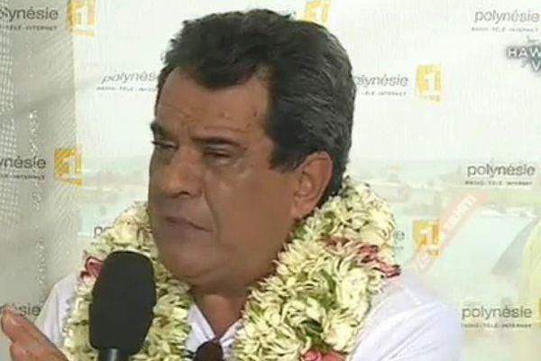 Edouard Fritch, Président du pays, sur Polynésie 1ère